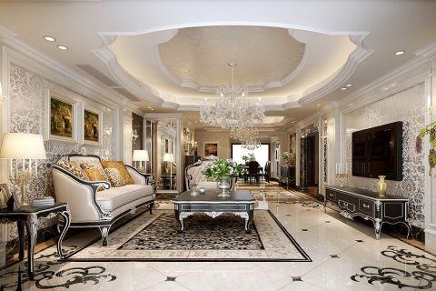 欧式风格250平米复式室内装修效果图