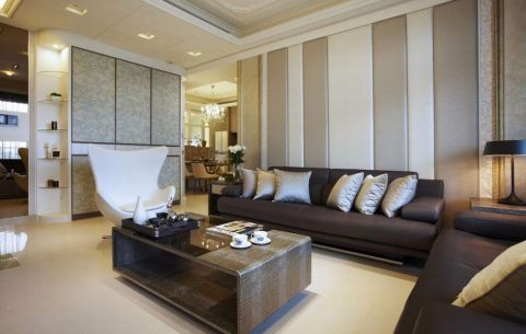 新古典风格120平米3房2厅房子装饰效果图