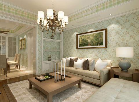 客厅照片墙田园风格装潢设计图片