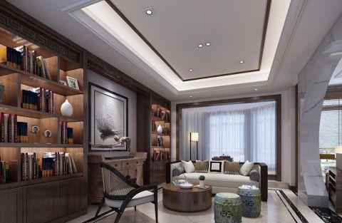 书房窗帘新中式风格装修效果图