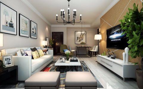 客厅走廊现代简约风格装饰图片