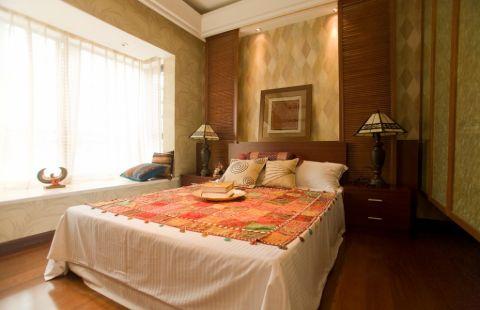 卧室飘窗东南亚风格效果图