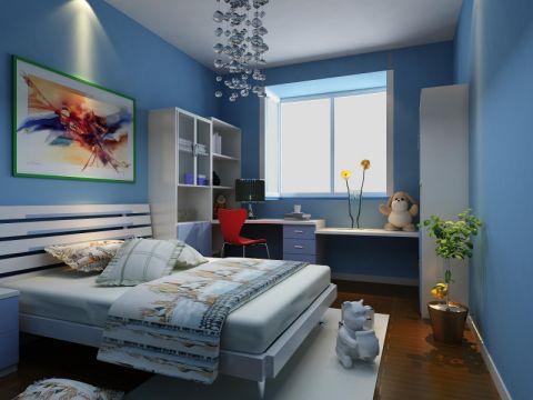 卧室白色吊顶地中海风格装潢效果图