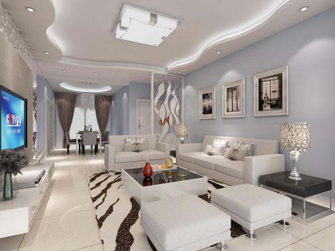 客厅吊顶简约风格装修设计图片