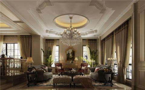 新古典风格320平米3房2厅房子装饰效果图