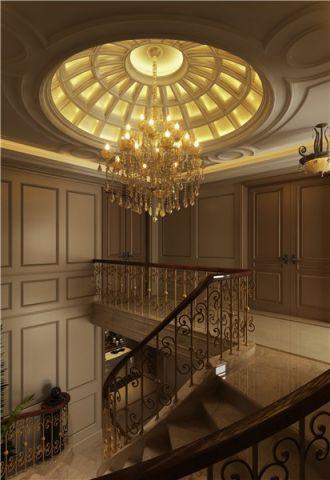 玄关黄色吊顶新古典风格装潢图片