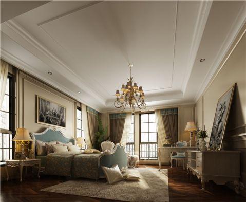 卧室白色吊顶新古典风格装饰设计图片
