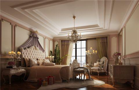 卧室米色背景墙新古典风格装潢设计图片