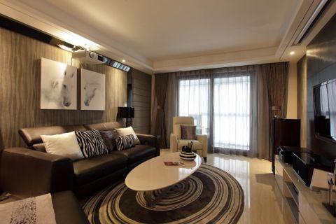 客厅黄色背景墙现代简约风格装饰效果图