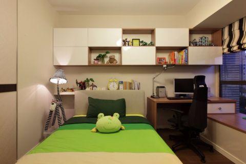 卧室米色背景墙现代简约风格装潢图片