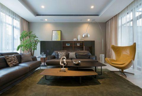客厅黄色茶几简约风格装潢效果图