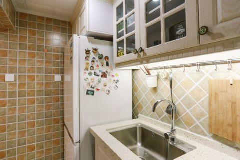 厨房彩色背景墙美式风格装修效果图