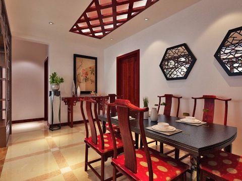 餐厅吊顶中式风格装修效果图