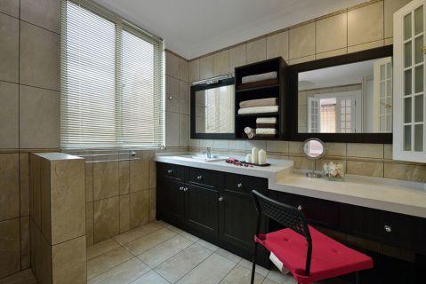 卫生间窗帘简约风格装饰设计图片