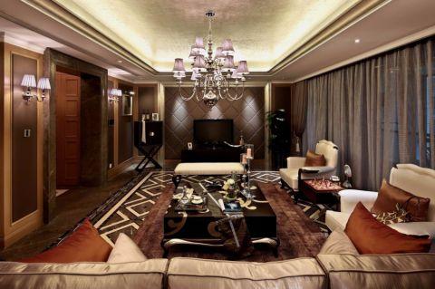 新古典风格133平米3房2厅房子装饰效果图