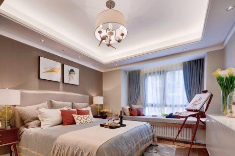 卧室窗帘中式风格装饰图片