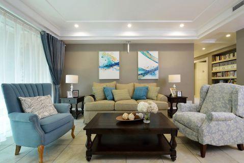 简欧风格117平米三室两厅室内装修效果图