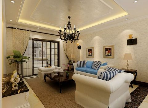 简欧风格127平米三室一厅室内装修效果图