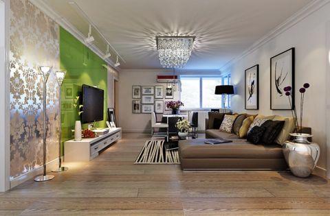新中式风格134平米三房两厅新房装修效果图
