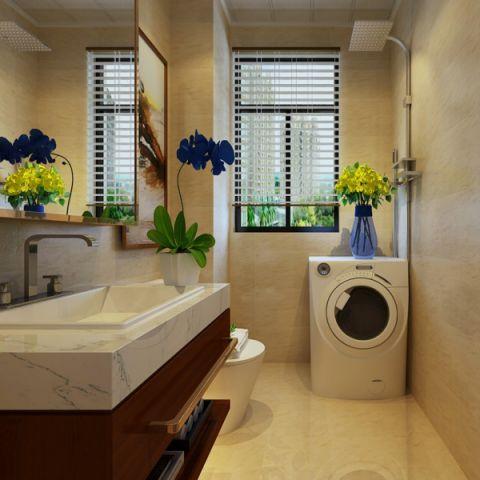 卫生间窗帘现代简约风格装饰设计图片