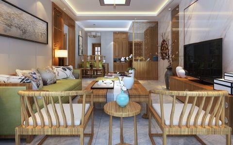 客厅沙发中式风格装修图片