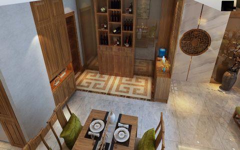 餐厅博古架中式风格装饰图片