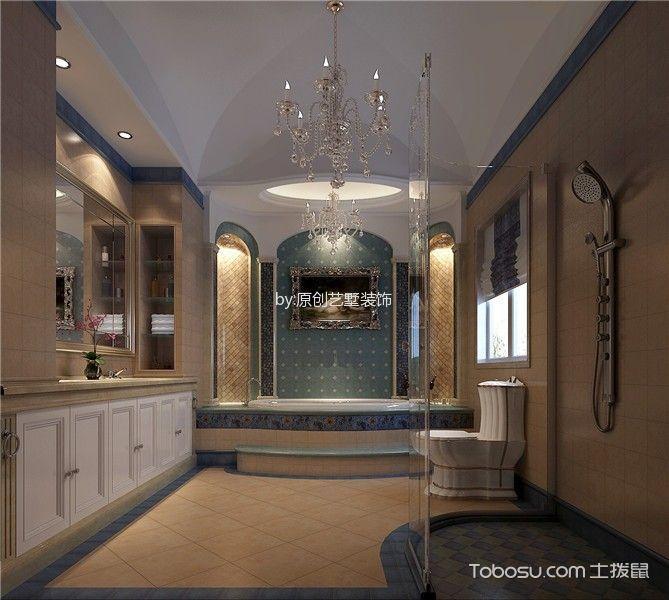 卫生间 吊顶_美式风格260平米别墅室内装修效果图