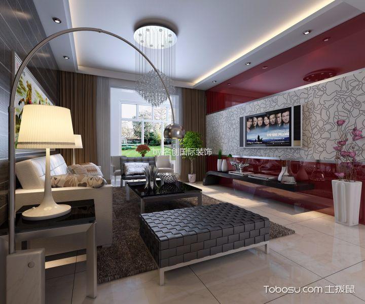 现代风格109平米楼房新房装修效果图