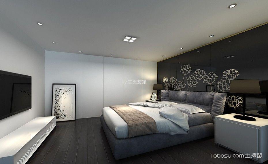 卧室白色电视柜现代简约风格装饰图片