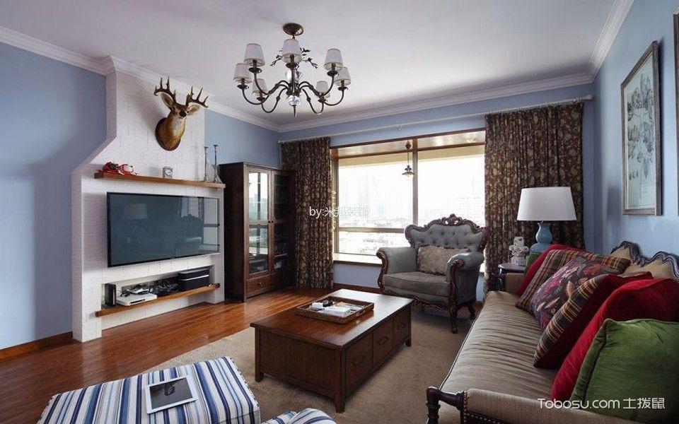 美式风格143平米3房2厅房子装饰效果图