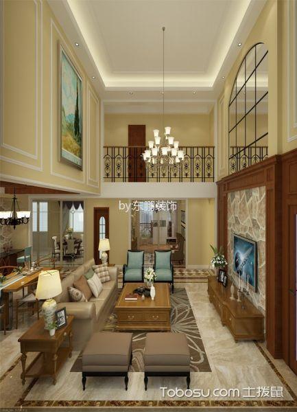 美式风格250平米复式室内装修效果图