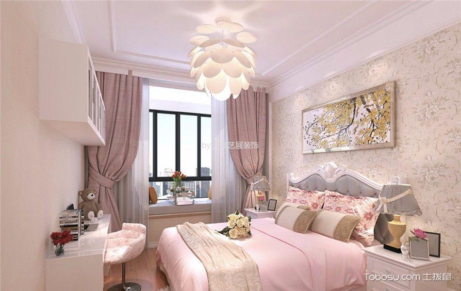 卧室 吊顶_简欧风格145平米三房两厅新房装修效果图