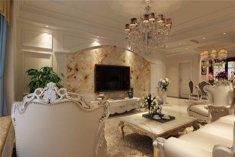 简欧风格106平米三室两厅室内装修效果图