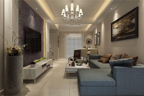 简约风格115平米三室两厅室内装修效果图