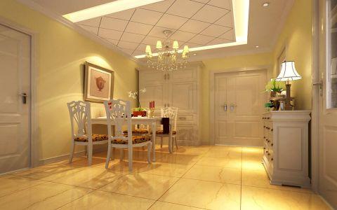 欧式风格90平米两房两厅新房装修效果图