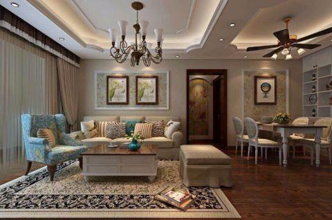 银杏尚郡美式一居室风格效果图