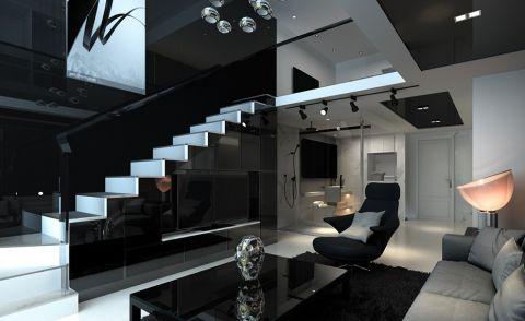 现代简约风格47平米LOFT新房装修效果图
