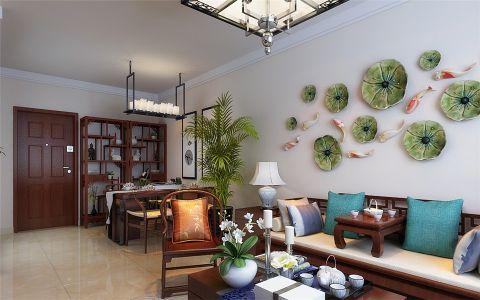 客厅隔断新中式风格装修效果图