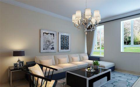 现代简约风格142平米三室两厅室内装修效果图