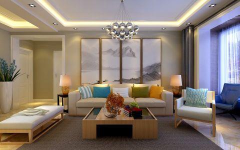 现代简约风格110平米小户型室内装修效果图