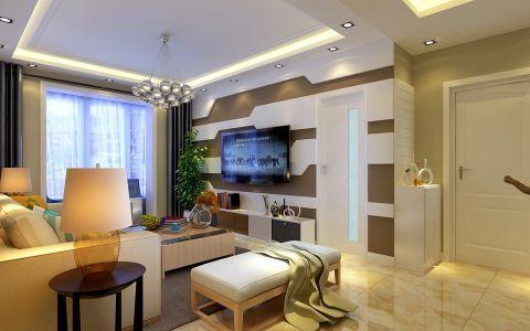 客厅窗帘现代简约风格装饰设计图片