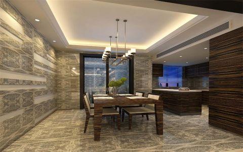 餐厅背景墙现代风格装潢效果图