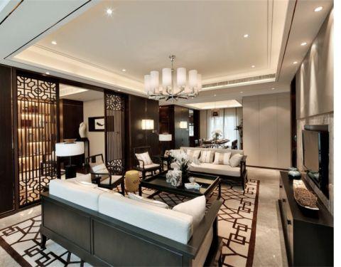 金域丹堤三居室中式风格效果图