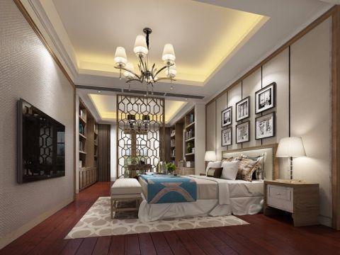 卧室照片墙新中式风格装修图片