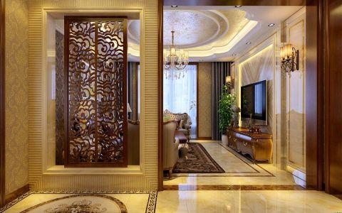 客厅隔断美式风格装潢设计图片