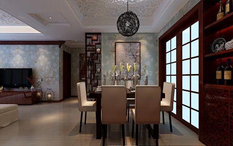 餐厅推拉门新中式风格装潢图片