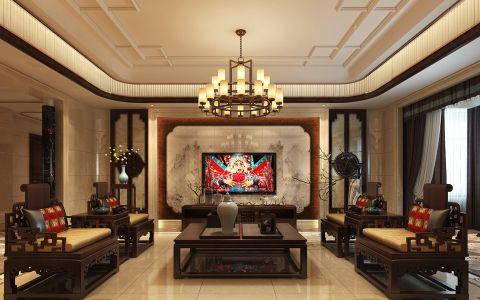新中式风格500平米大户型室内装修效果图