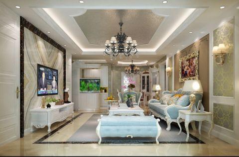 现代欧式风格170平米大户型房子装饰效果图