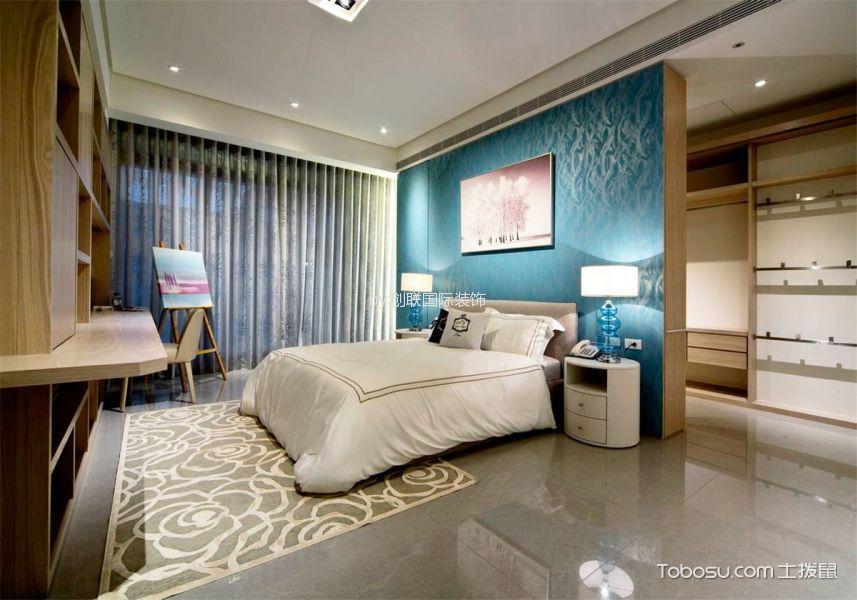 现代简约风格120平米三室两厅室内装修效果图