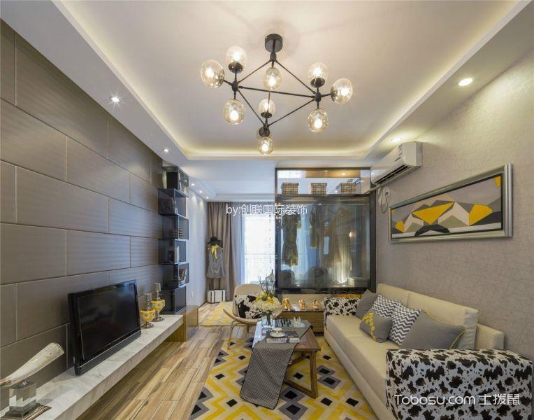 简约风格110平米三室两厅室内装修效果图